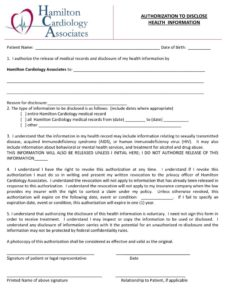 thumbnail of RELEASE Authorization to Release Health Information BY HCA 031219