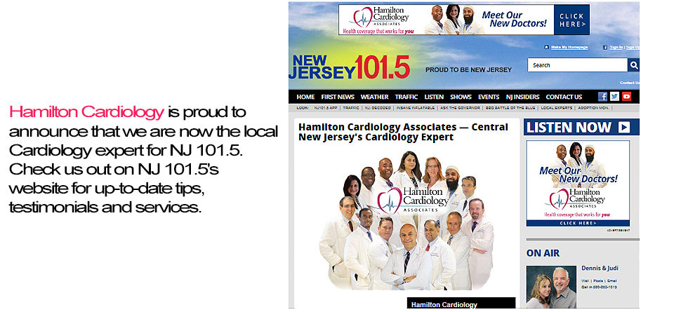 The local Cardiology expert for NJ 101.5!